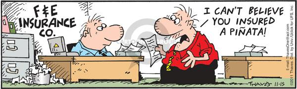 Comic Strip Bob Thaves Tom Thaves  Frank and Ernest 2011-11-15 insure