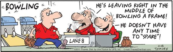 Comic Strip Bob Thaves Tom Thaves  Frank and Ernest 2011-11-18 alley