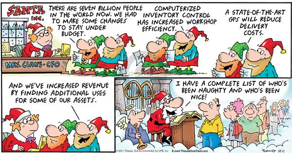 Cartoonist Bob Thaves Tom Thaves  Frank and Ernest 2011-12-11 delivery