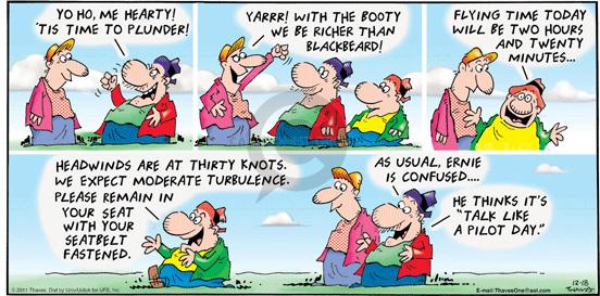 Comic Strip Bob Thaves Tom Thaves  Frank and Ernest 2011-12-18 sound