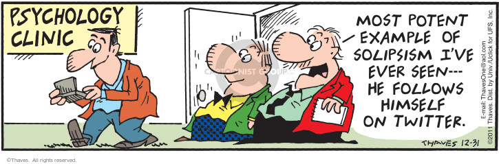 Comic Strip Bob Thaves Tom Thaves  Frank and Ernest 2011-12-31 reality
