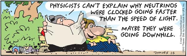 Cartoonist Bob Thaves Tom Thaves  Frank and Ernest 2012-01-05 clock