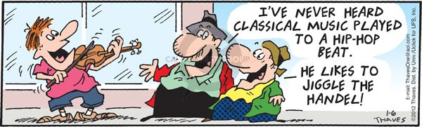 Comic Strip Bob Thaves Tom Thaves  Frank and Ernest 2012-01-06 classical