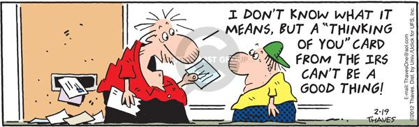 Comic Strip Bob Thaves Tom Thaves  Frank and Ernest 2012-01-19 tax