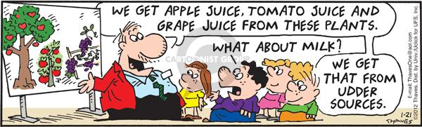 Comic Strip Bob Thaves Tom Thaves  Frank and Ernest 2012-01-21 grape