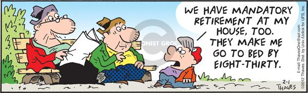 Comic Strip Bob Thaves Tom Thaves  Frank and Ernest 2012-02-01 parenting