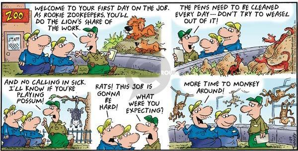 Comic Strip Bob Thaves Tom Thaves  Frank and Ernest 2012-01-29 work hard