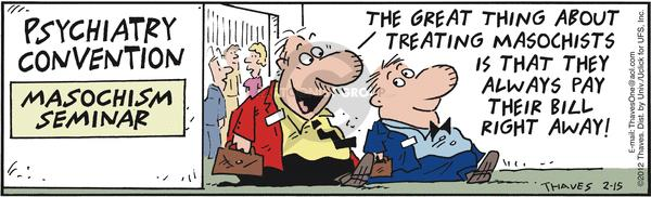 Cartoonist Bob Thaves Tom Thaves  Frank and Ernest 2012-02-15 pain