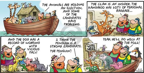Comic Strip Bob Thaves Tom Thaves  Frank and Ernest 2012-02-19 election