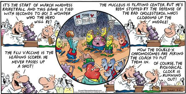 Comic Strip Bob Thaves Tom Thaves  Frank and Ernest 2012-03-04 NCAA