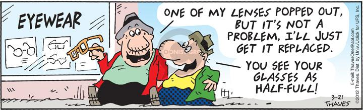 Comic Strip Bob Thaves Tom Thaves  Frank and Ernest 2012-03-21 replacement