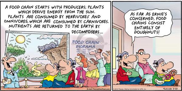 Cartoonist Bob Thaves Tom Thaves  Frank and Ernest 2012-03-25 consumption