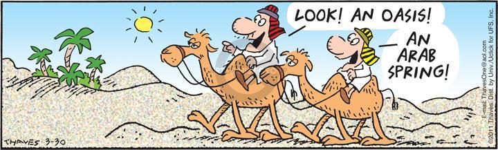 Comic Strip Bob Thaves Tom Thaves  Frank and Ernest 2012-03-30 desert