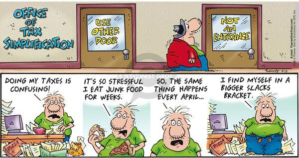 Comic Strip Bob Thaves Tom Thaves  Frank and Ernest 2012-04-15 April