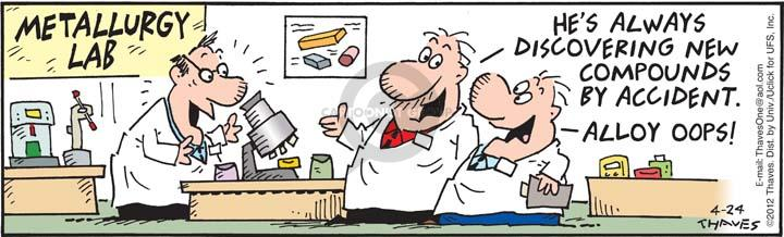 Comic Strip Bob Thaves Tom Thaves  Frank and Ernest 2012-04-24 microscope