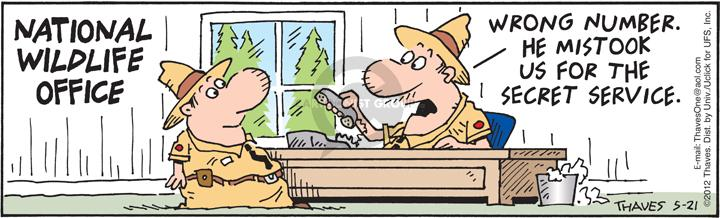 Comic Strip Bob Thaves Tom Thaves  Frank and Ernest 2012-05-21 wildlife