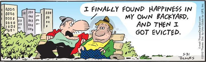 Comic Strip Bob Thaves Tom Thaves  Frank and Ernest 2012-05-31 finally