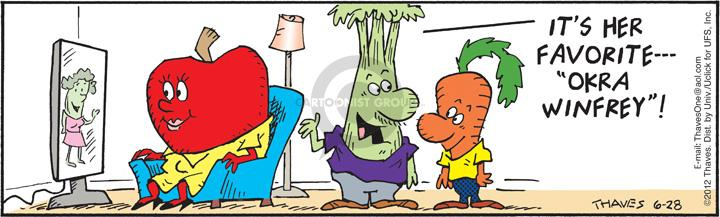 Comic Strip Bob Thaves Tom Thaves  Frank and Ernest 2012-06-28 vegetable
