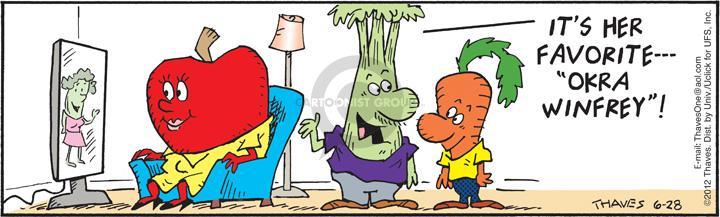 Comic Strip Bob Thaves Tom Thaves  Frank and Ernest 2012-06-28 vegetable