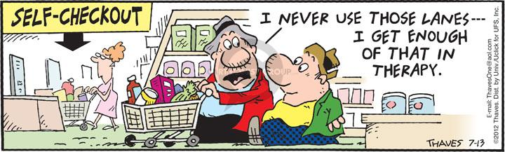 Comic Strip Bob Thaves Tom Thaves  Frank and Ernest 2012-07-13 check