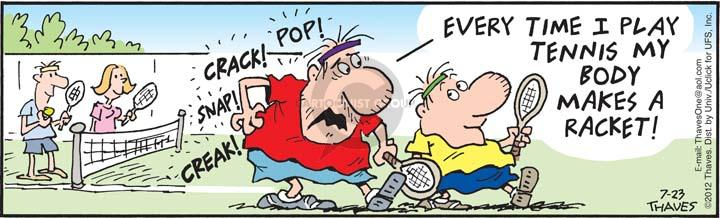 Cartoonist Bob Thaves Tom Thaves  Frank and Ernest 2012-07-23 pain