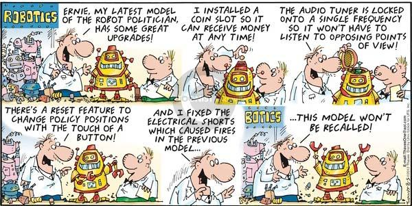 Comic Strip Bob Thaves Tom Thaves  Frank and Ernest 2012-08-05 electrical