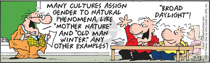 Comic Strip Bob Thaves Tom Thaves  Frank and Ernest 2012-08-23 culture