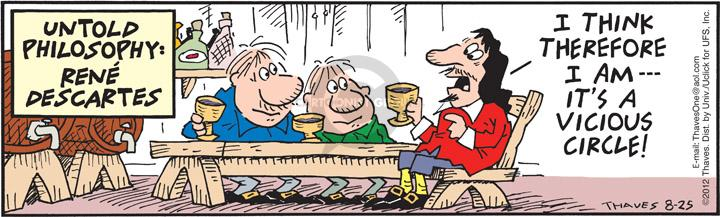 Comic Strip Bob Thaves Tom Thaves  Frank and Ernest 2012-08-25 lifestyle