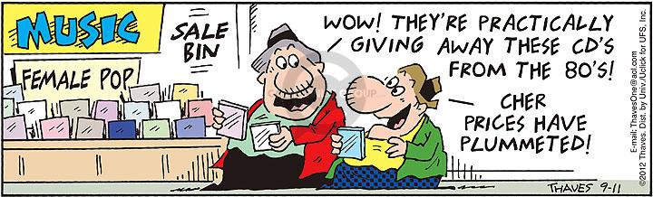 Comic Strip Bob Thaves Tom Thaves  Frank and Ernest 2012-09-11 drop