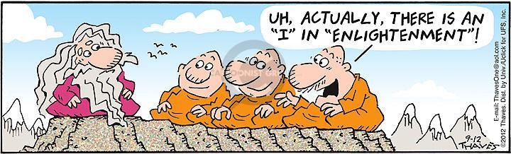 Comic Strip Bob Thaves Tom Thaves  Frank and Ernest 2012-09-12 guru