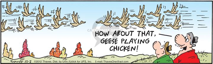 Comic Strip Bob Thaves Tom Thaves  Frank and Ernest 2012-10-02 chicken