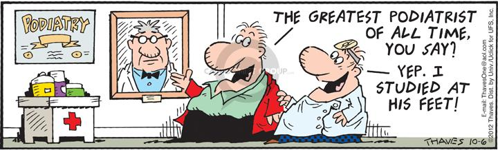 Comic Strip Bob Thaves Tom Thaves  Frank and Ernest 2012-10-06 education