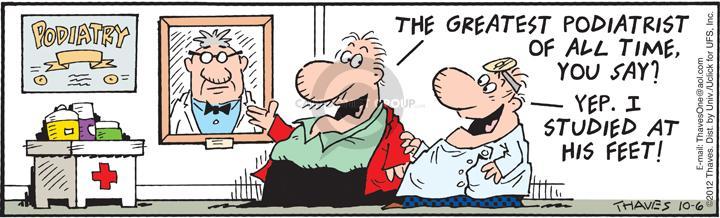 Cartoonist Bob Thaves Tom Thaves  Frank and Ernest 2012-10-06 yep