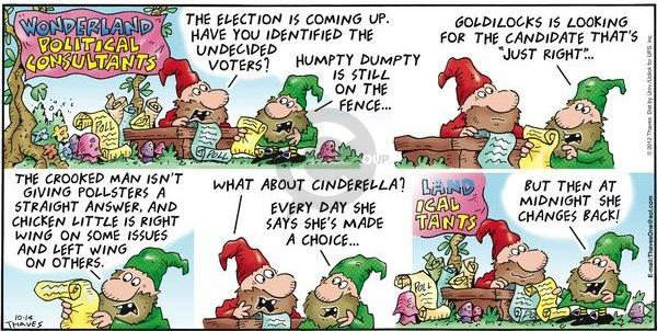Comic Strip Bob Thaves Tom Thaves  Frank and Ernest 2012-10-14 2012 election