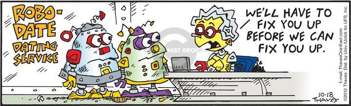Comic Strip Bob Thaves Tom Thaves  Frank and Ernest 2012-10-18 arrange