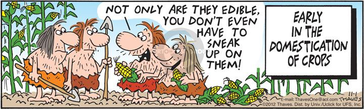 Comic Strip Bob Thaves Tom Thaves  Frank and Ernest 2012-11-01 corn
