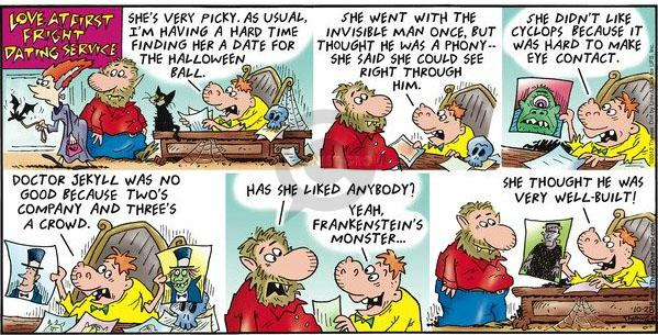 Comic Strip Bob Thaves Tom Thaves  Frank and Ernest 2012-10-28 Halloween
