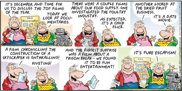 Comic Strip Bob Thaves Tom Thaves  Frank and Ernest 2012-12-02 chick flick