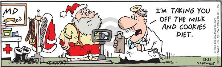 Comic Strip Bob Thaves Tom Thaves  Frank and Ernest 2012-12-25 medical