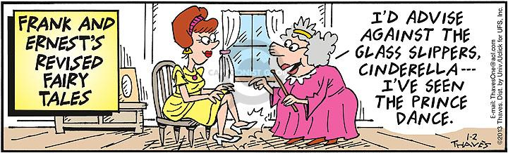 Comic Strip Bob Thaves Tom Thaves  Frank and Ernest 2013-01-02 caution