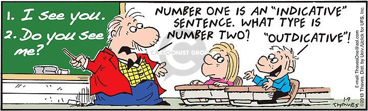 Comic Strip Bob Thaves Tom Thaves  Frank and Ernest 2013-01-09 teacher