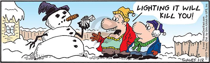 Comic Strip Bob Thaves Tom Thaves  Frank and Ernest 2013-01-12 melt