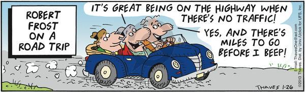 Comic Strip Bob Thaves Tom Thaves  Frank and Ernest 2012-01-26 traveler