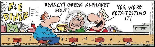 Comic Strip Bob Thaves Tom Thaves  Frank and Ernest 2013-01-29 alphabet