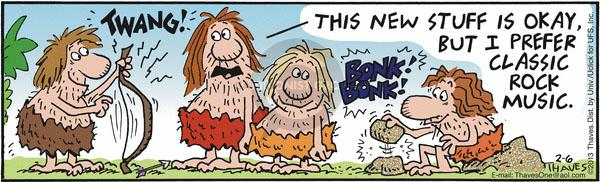 Comic Strip Bob Thaves Tom Thaves  Frank and Ernest 2013-02-06 string
