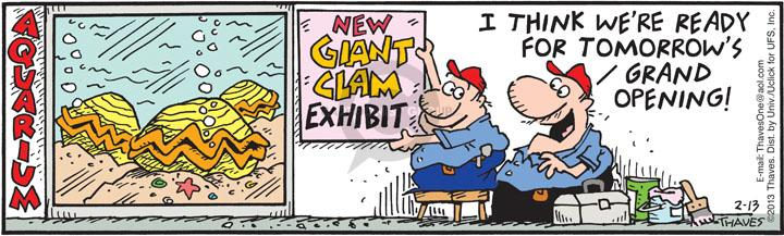 Comic Strip Bob Thaves Tom Thaves  Frank and Ernest 2013-02-13 sign