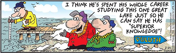Comic Strip Bob Thaves Tom Thaves  Frank and Ernest 2013-02-20 study