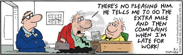 Comic Strip Bob Thaves Tom Thaves  Frank and Ernest 2013-03-01 boss manager