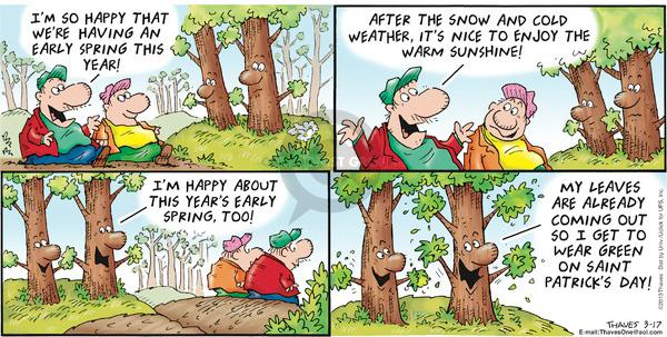 Comic Strip Bob Thaves Tom Thaves  Frank and Ernest 2013-03-17 green
