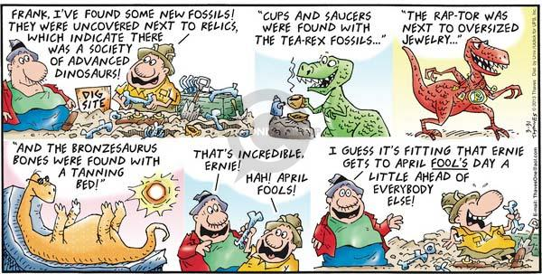 Comic Strip Bob Thaves Tom Thaves  Frank and Ernest 2013-03-31 April